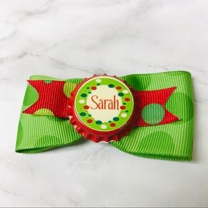 Sarah Name Hair Bow
